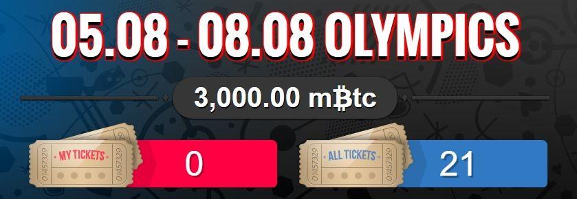 , Sportsbet.io lanza promoción para apuestas bitcoin en los Juegos Olímpicos